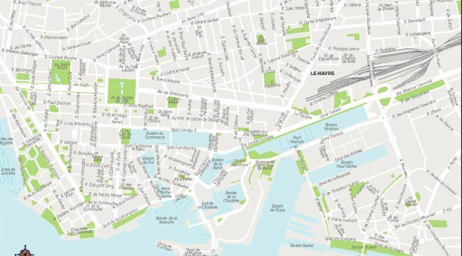 Le Havre carte vectorielle illustrator eps Pichet 2021