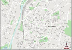 Valenciennes carte vectorielle illustrator eps Pichet 2021