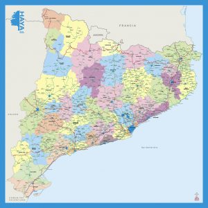 Mapa mural Catalunya Haya