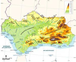 Andalucia fisico mapa Edebe