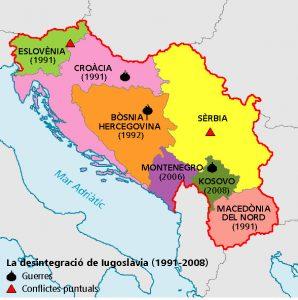 Mapa Yugoslavia libro de texto Edicions Baula